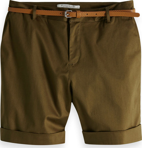 Scotch & Soda Shorts longs en chinos avec ceinture Mercerised - Femme