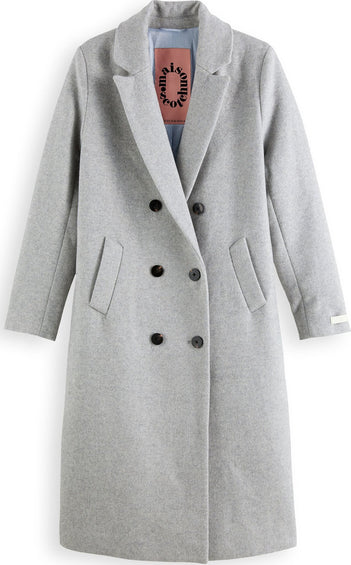Scotch & Soda Tailored Wool-Blend Double Breasted Coat - Women's