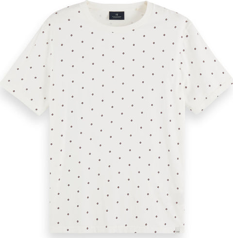 Scotch & Soda Sustainable cotton t-shirt with all over print - Men's