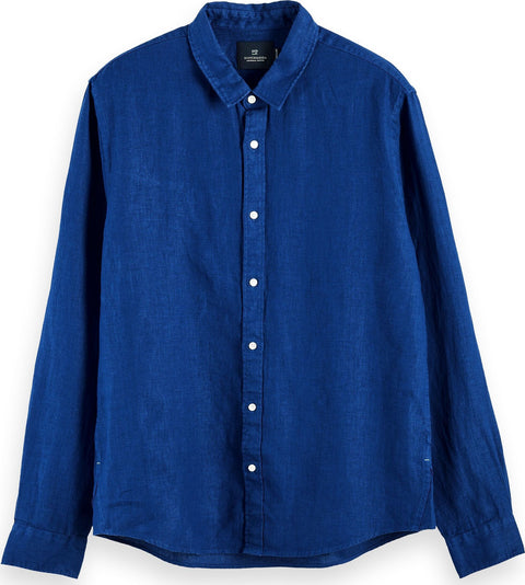 Scotch & Soda Long Sleeve 100% Linen Shirt - Men's