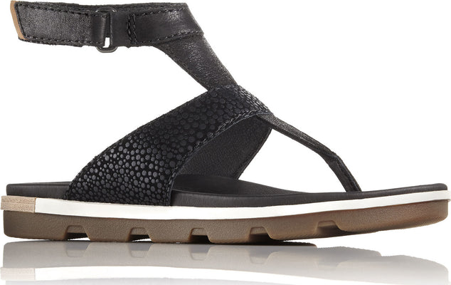 Sorel Torpeda Ankle Strap Full Grain Leather And Suede Sandals - Women's
