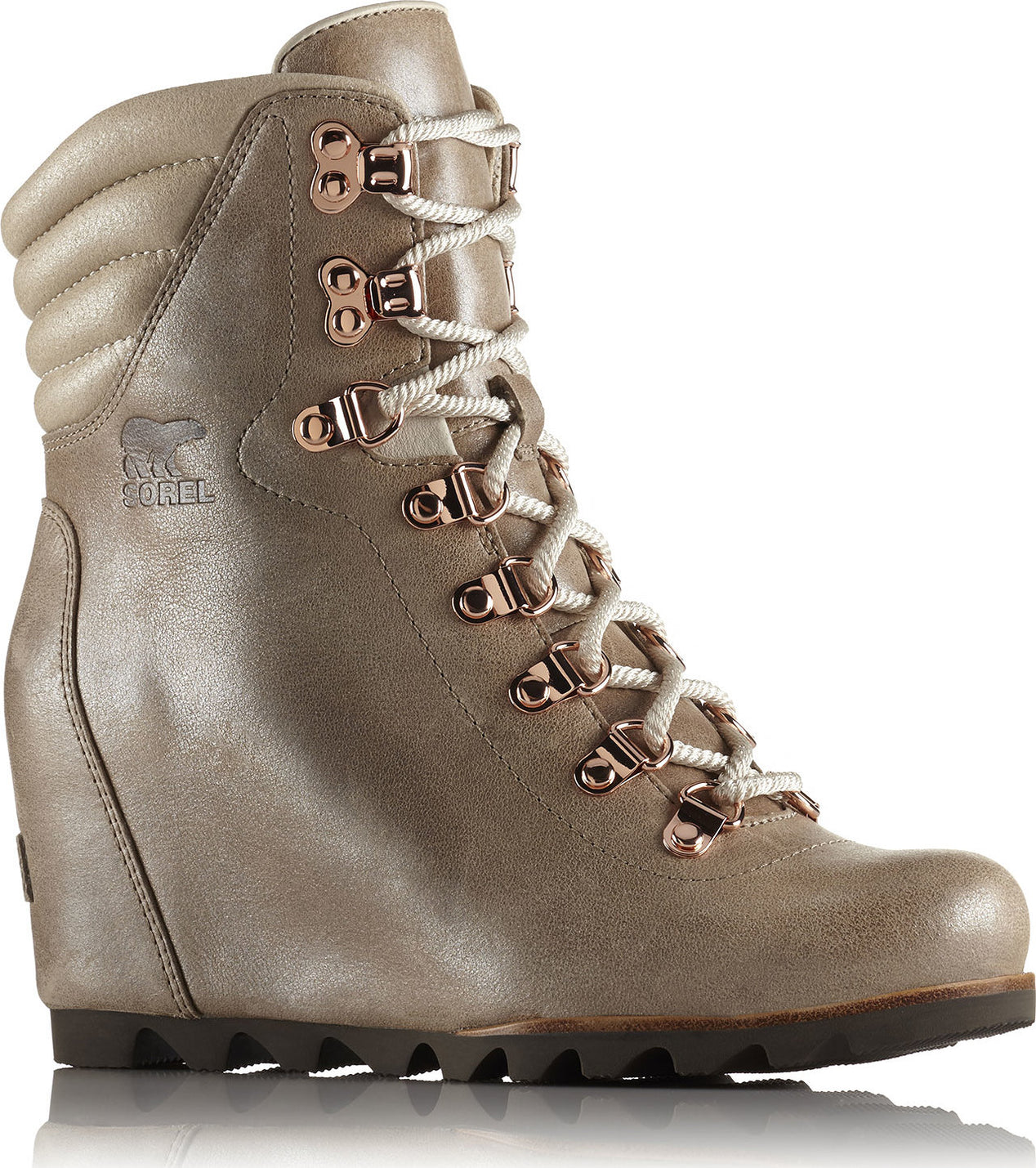 5c338421f58e00 Conquest Wedge Holiday Boots - Women s Beach - Fawn ...