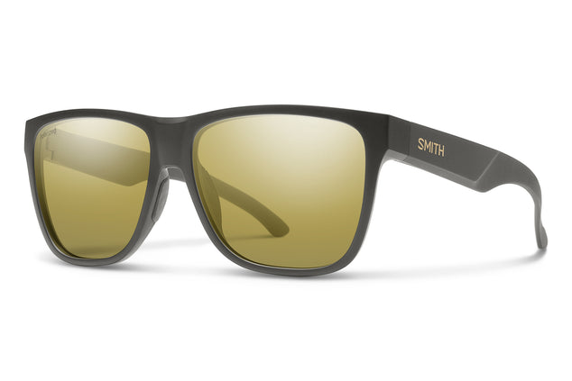 Smith Optics Lowdown XL 2 Sunglasses - Matte Gravy Frame - Polarized Gold Mirror Lens