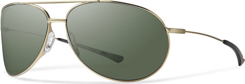 Smith Optics Rockford  - Matte Gold - Polarized Gray Green Lens Sunglasses
