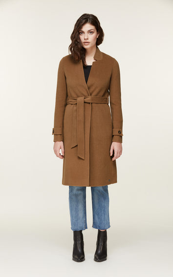 SOIA & KYO Adalicia Long Wool Coat - Women's