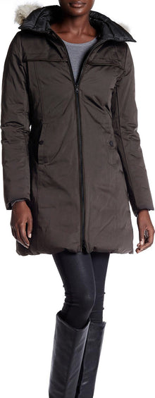 SOIA & KYO Women's Rania Reversible Down Coat - Coyote Fur