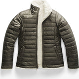 01bf0e7620 lazy-loading-gif The North Face Manteau réversible Mossbud Swirl Fille New  Taupe Green