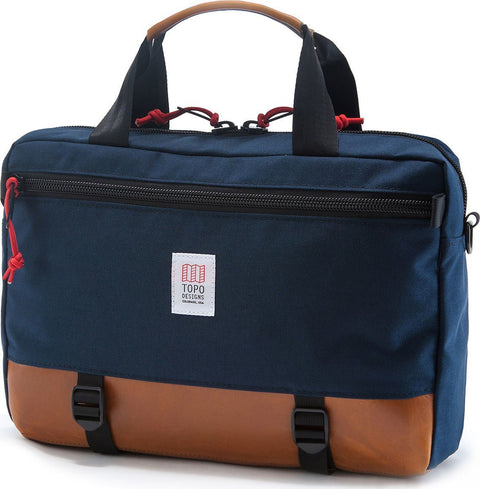 Topo Designs Commuter Briefcase Navy/Leather 13L