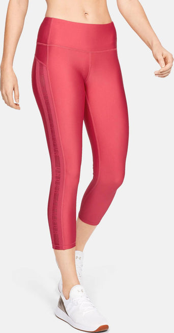 fa65a42ea8226 Loading spinner Under Armour HeatGear Armour Ankle Crop Branded Leggings -  Women's Impulse Pink - Impulse Pink -
