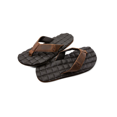 Volcom Recliner Leather Sandals - Men's