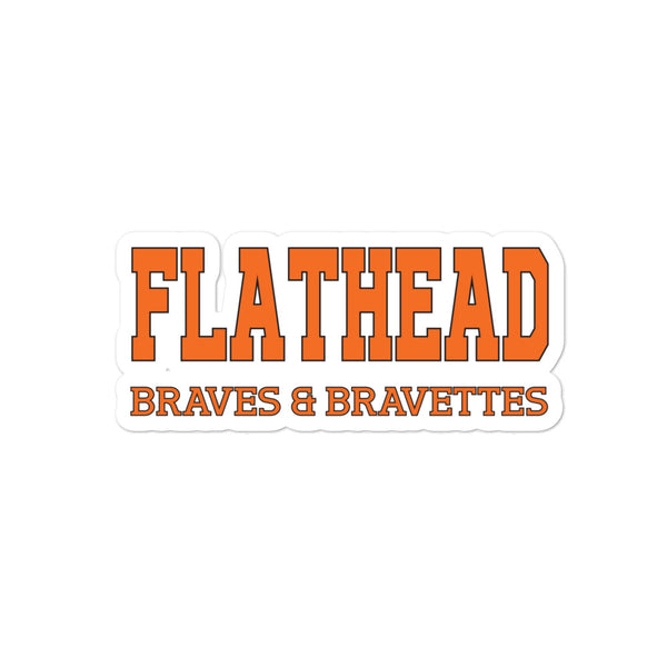 Flathead Braves & Bravettes Bubble-free stickers