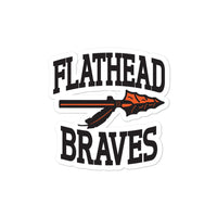 Flathead Braves Bubble-free stickers