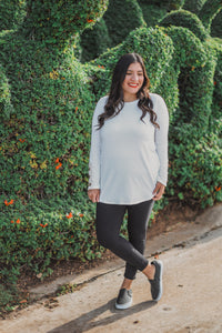 Dreamy White Long Sleeve with Button Details