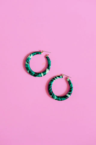 Green Resort Vibe Earrings