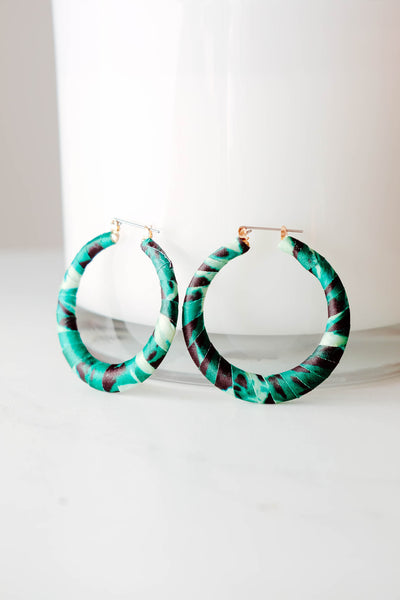 Green Resort Vibe Earrings Close Up