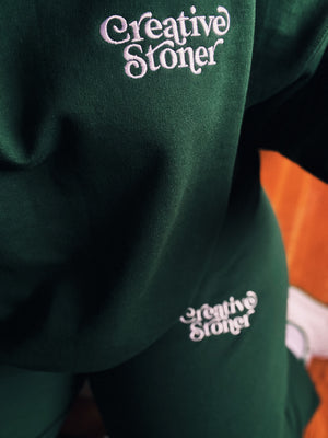 Creative Stoner Sweatshirt (Forest Green)