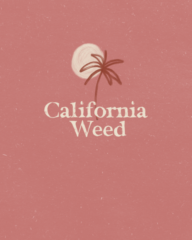 California Weed Art Print