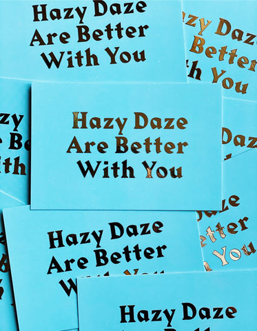 Hazy Daze Note Card