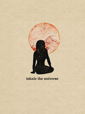 Inhale the Universe Art Print