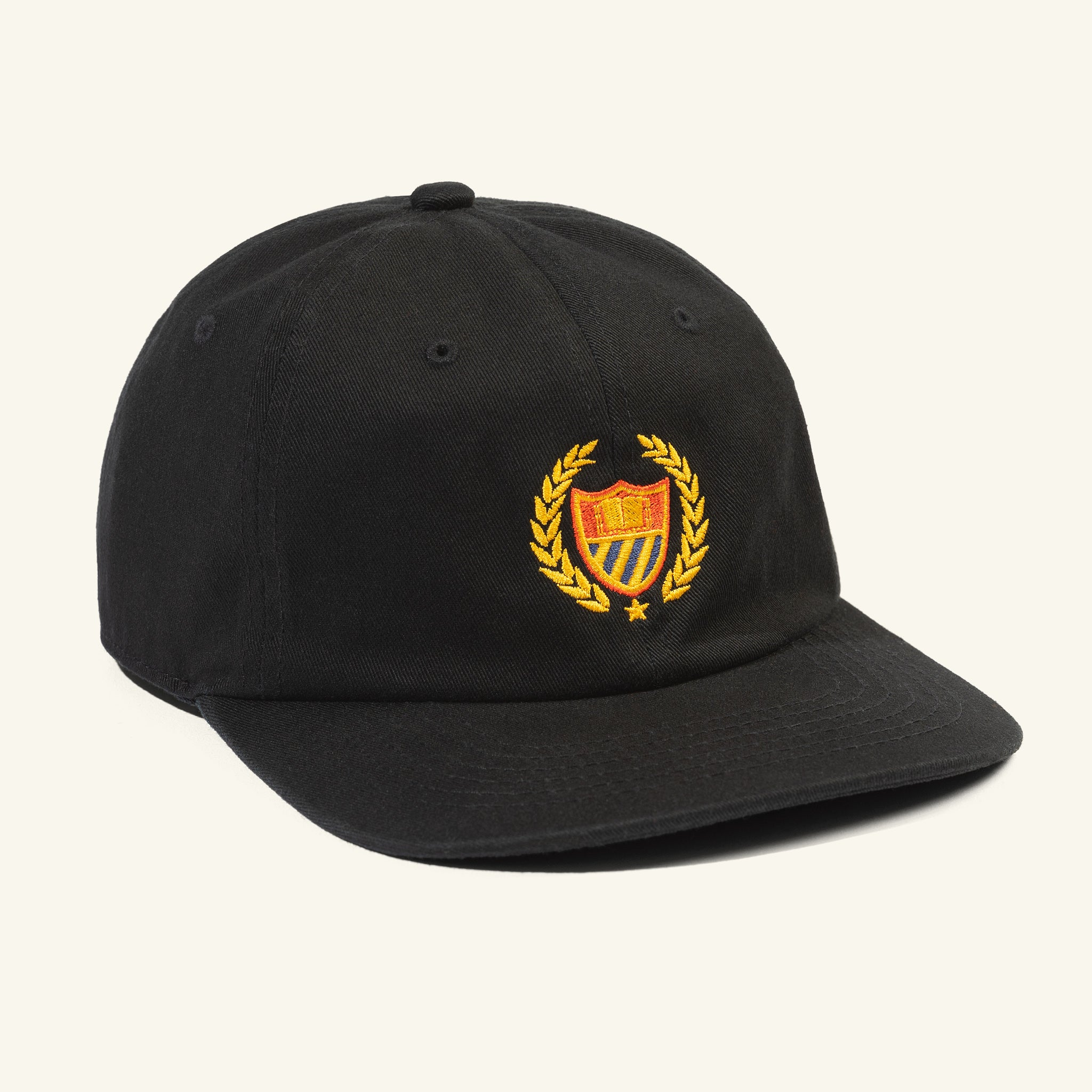 Academy 6 Panel Hat Black Image  #1