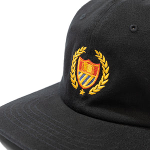 Academy 6 Panel Hat Black Image  #2