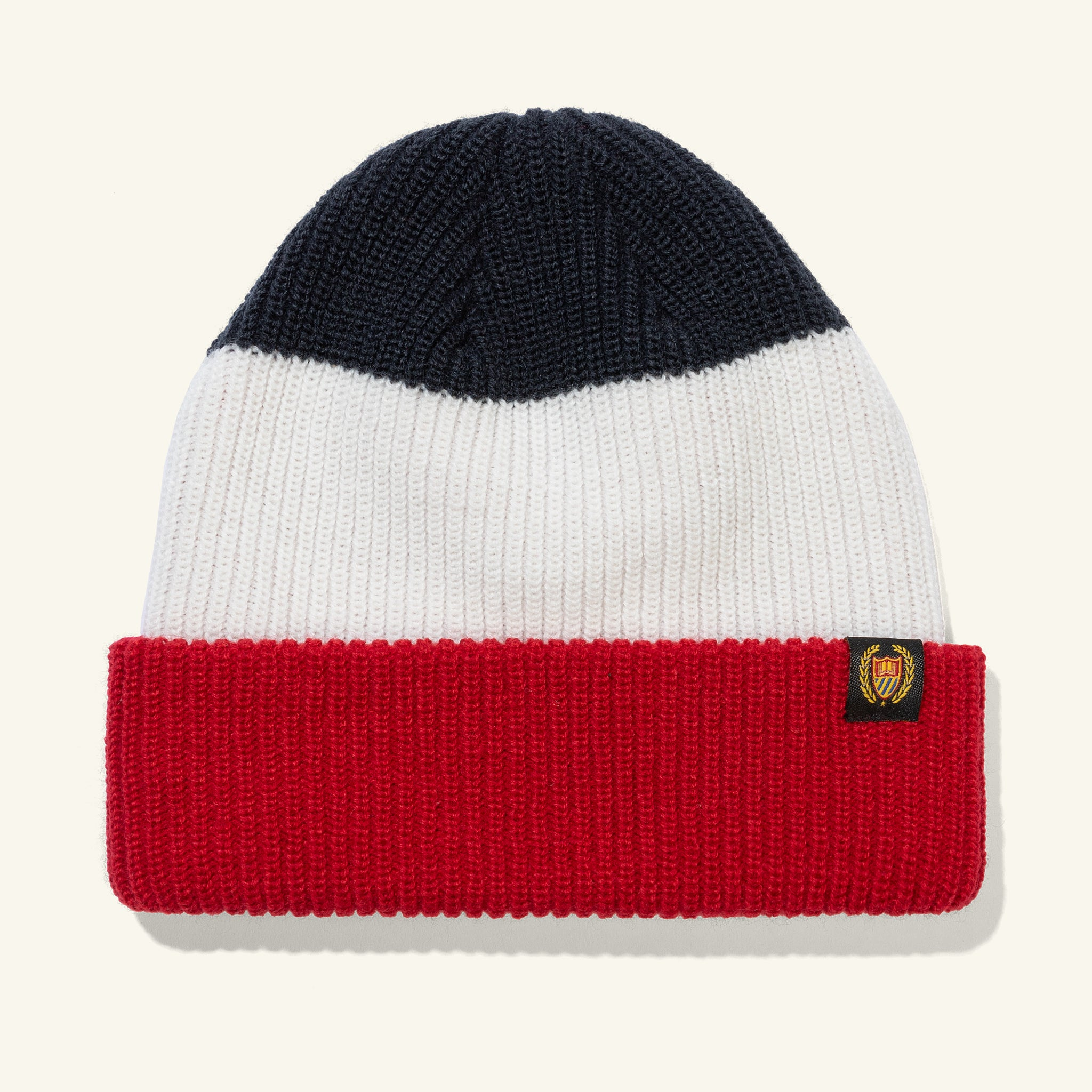 Academy Beanie Red Navy Image  #1