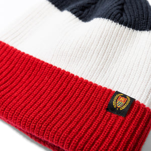 Academy Beanie Red Navy Image  #2