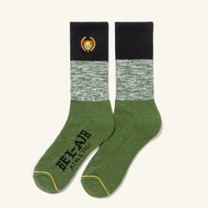 Academy Socks Black Emerald Heather Image  #1