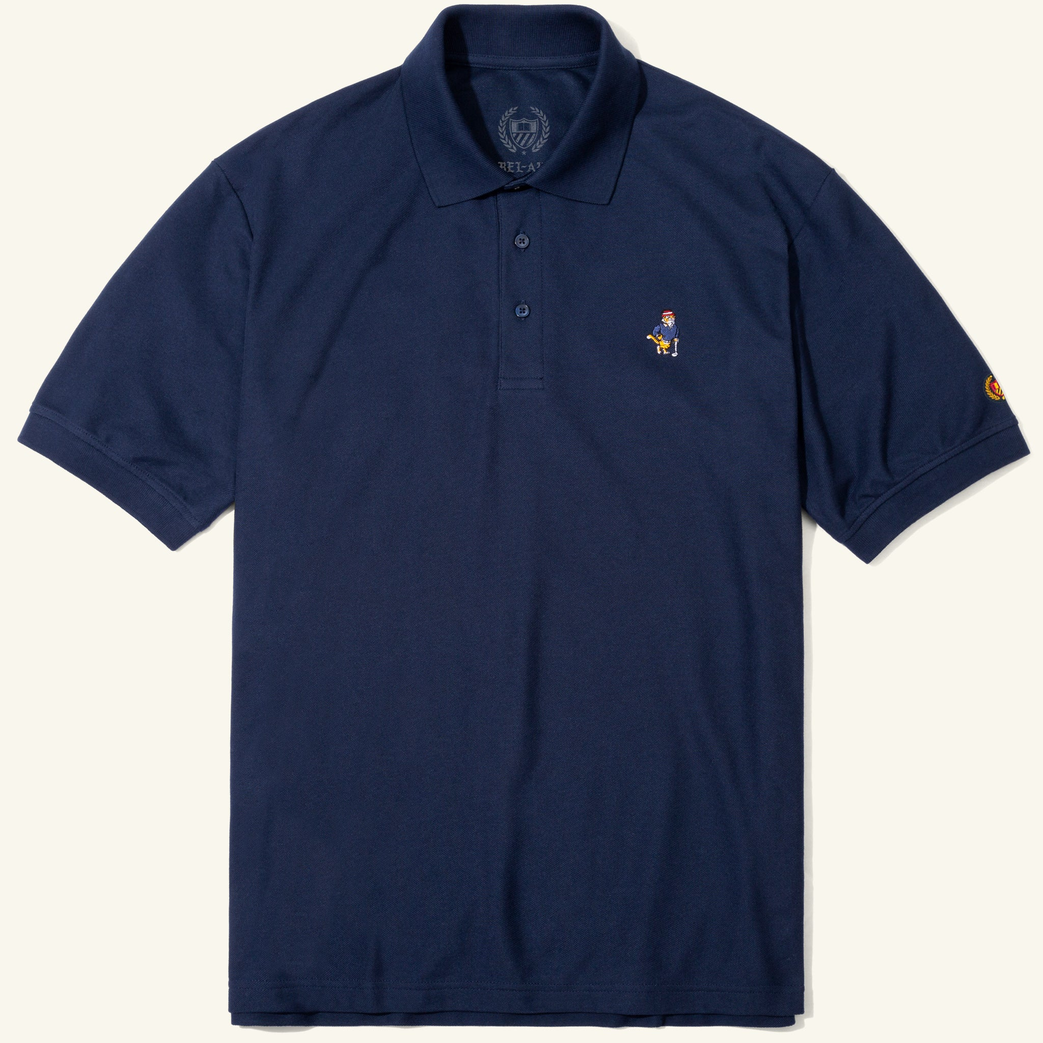 Bel Air Banks Tee Time Embroidered Polo Navy Image  #1