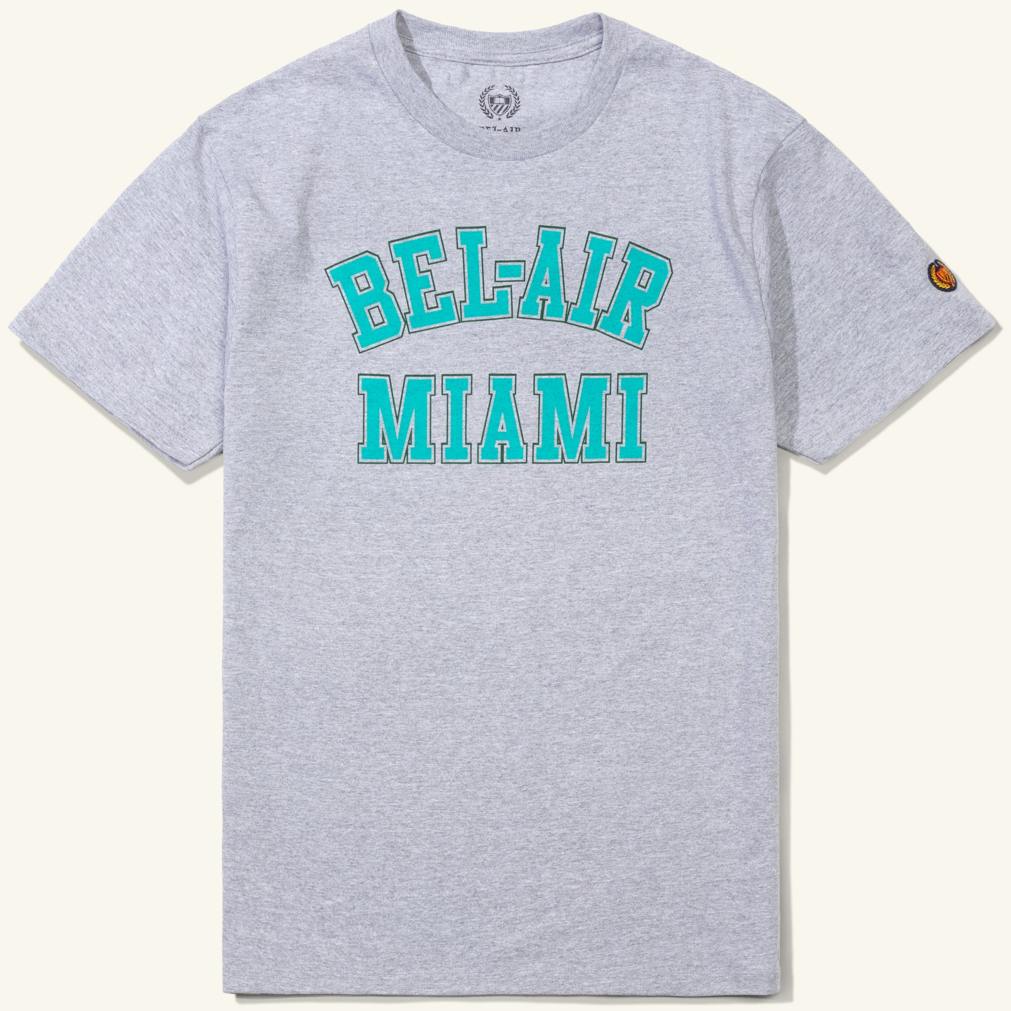 Bel Air Miami Tee Heather Grey Image  #1