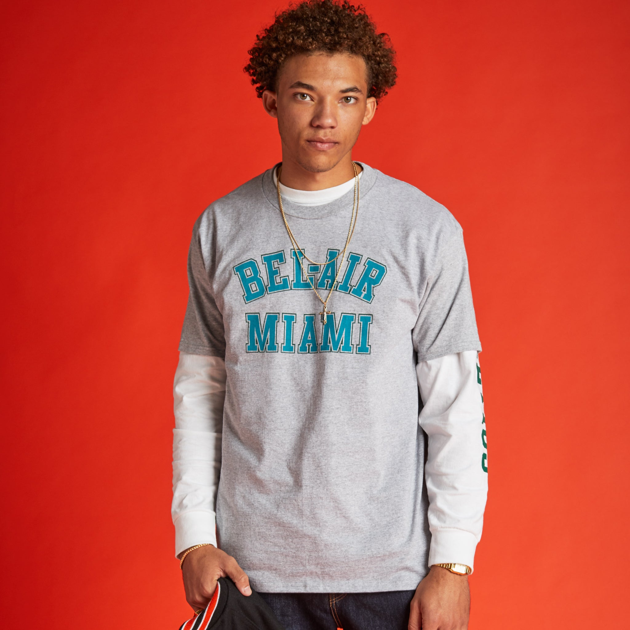 Bel Air Miami Tee Heather Grey Image  #2