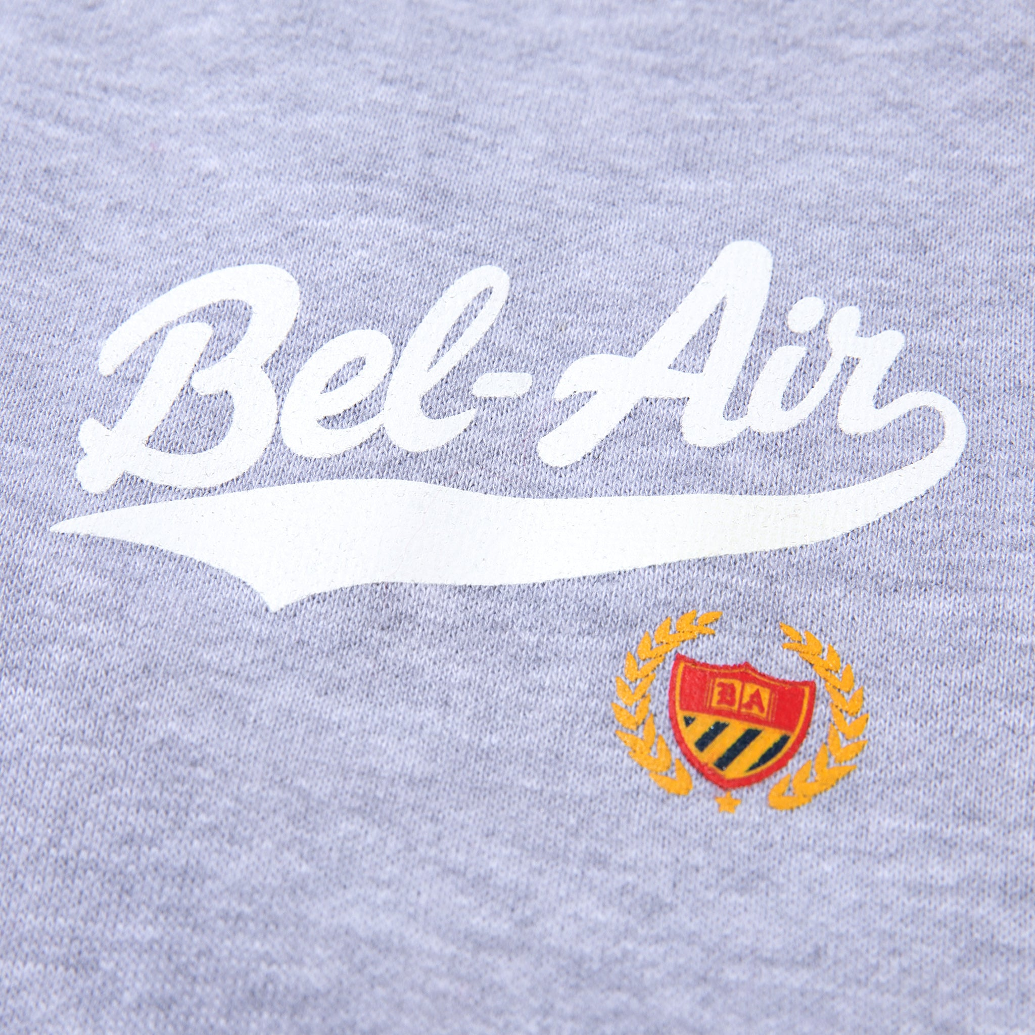 Bel Air Script Sweatpants Heather Grey Image  #2
