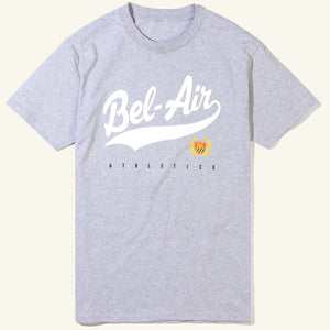Bel Air Script Tee Heather Grey Image  #1