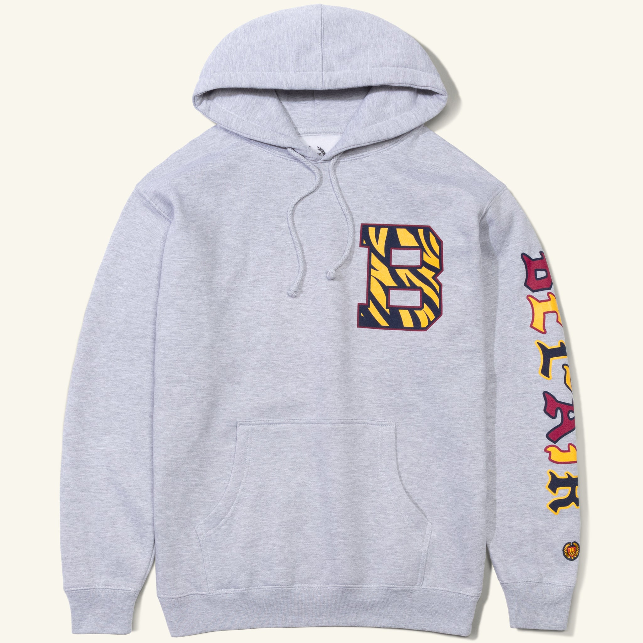 Bengal B Hooded Sweatshirt Heather Grey Image  #1