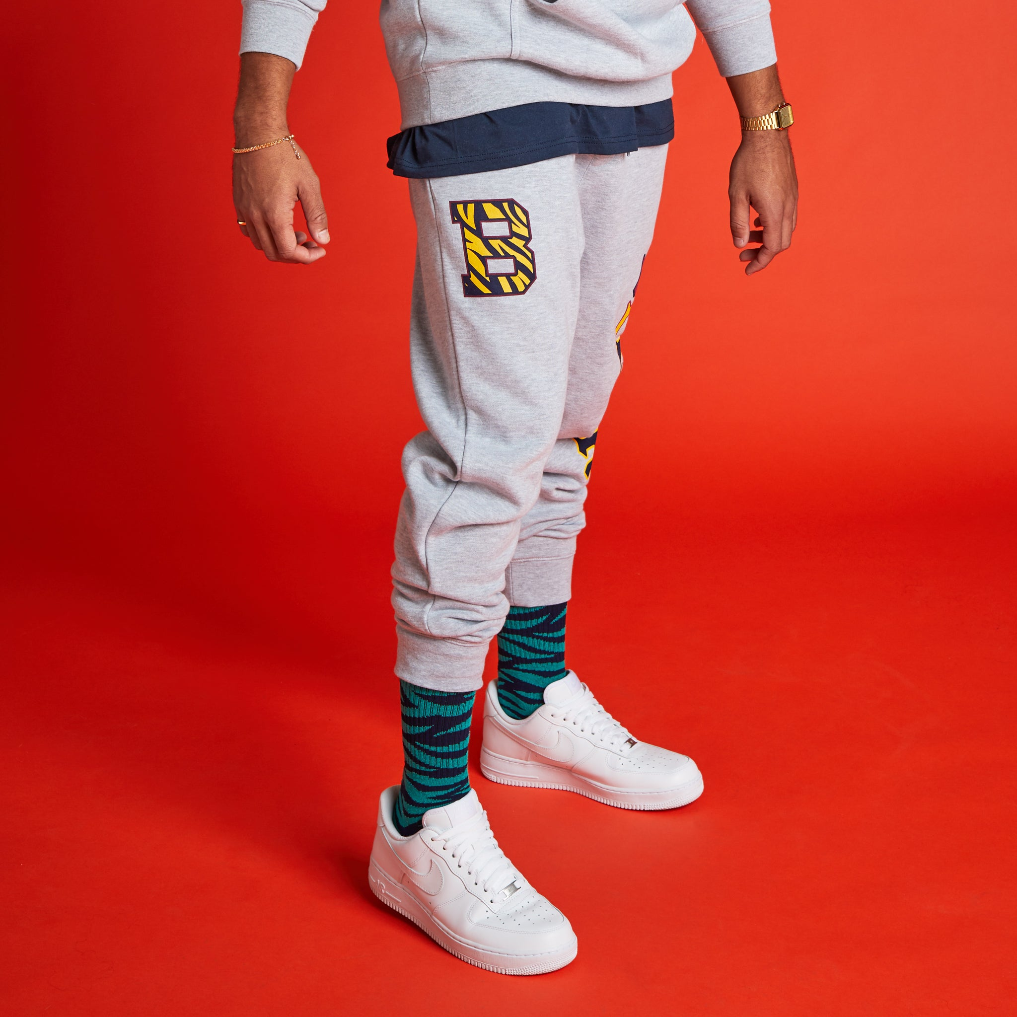 Bengal B Sweatpants Heather Grey Image  #2