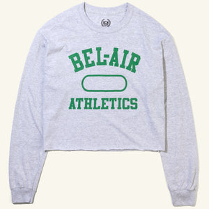 Bel Air Athletics Cropped Long Sleeve Tee Heather Grey Image  #1