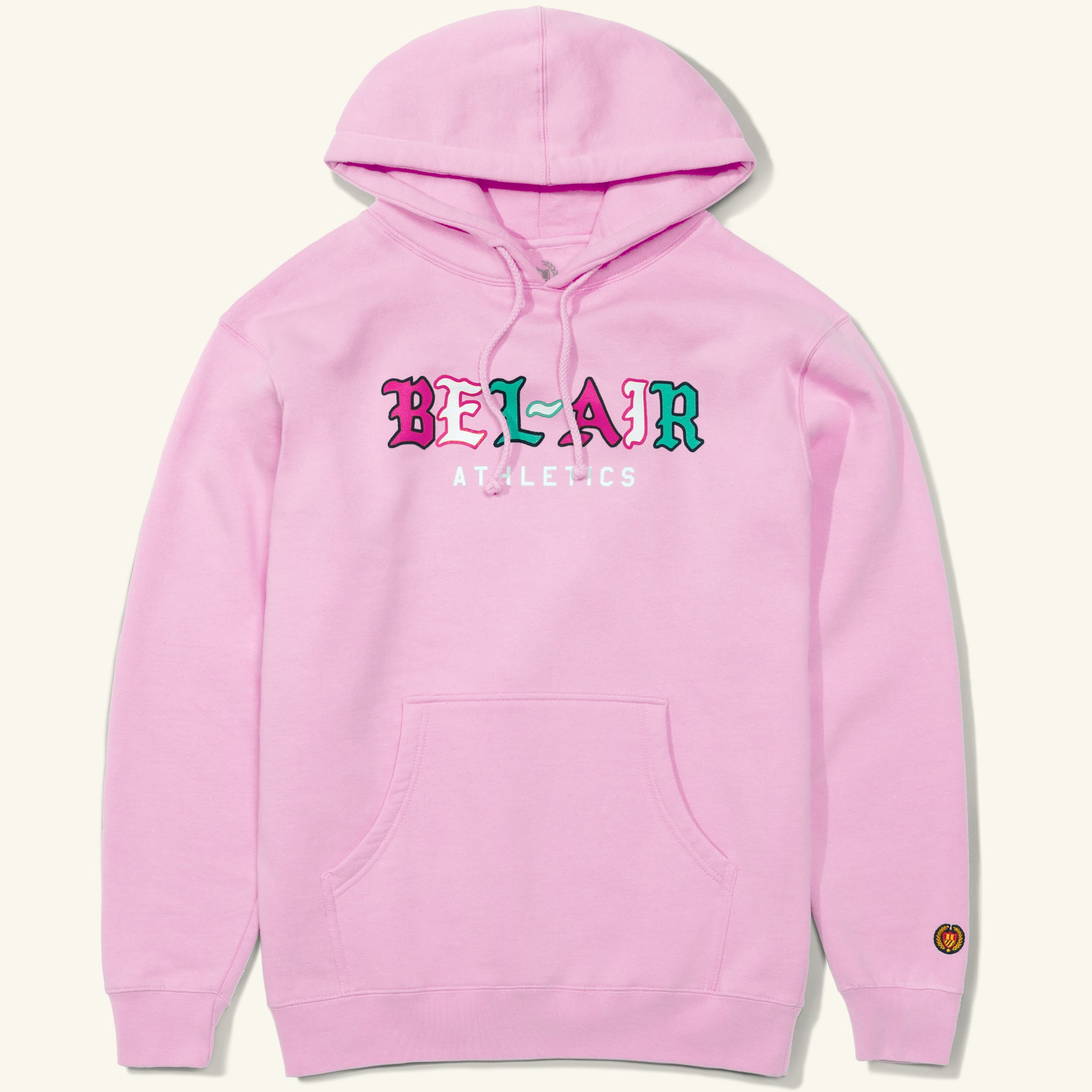 Gothic Mark Hooded Sweatshirt, Pink