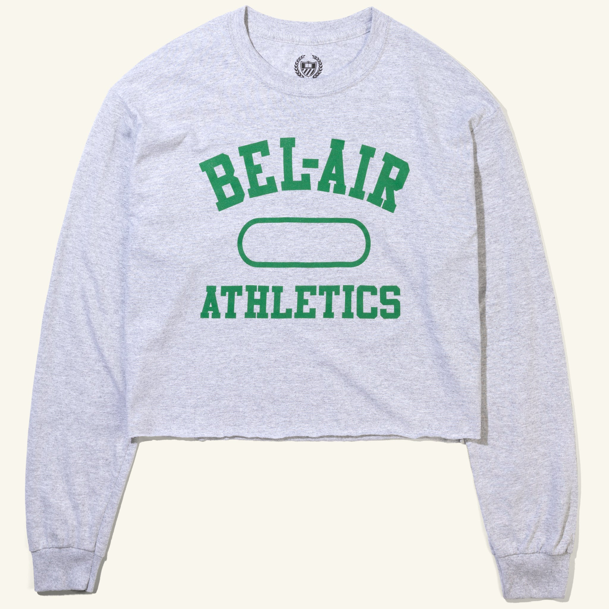 Gym Logo Cropped Long Sleeve Tee Heather Emerald Image  #1