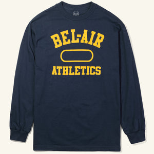 Gym Logo Long Sleeve Tee Navy Gold Image  #1