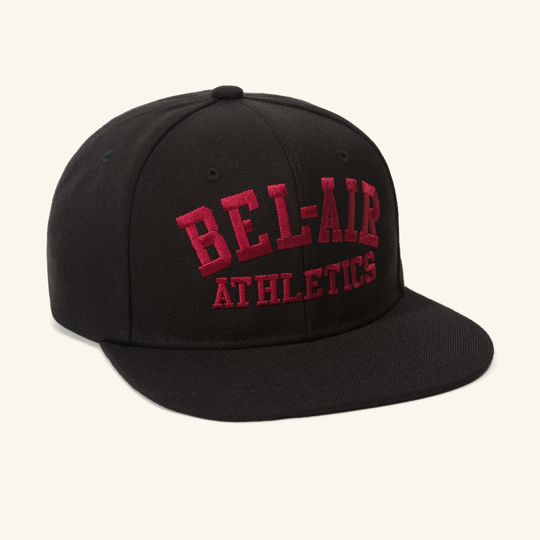 Gym Logo Snapback Hat Black Crimson Image  #1