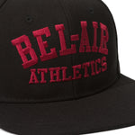 Gym Logo Snapback Hat Black Crimson Image  #2