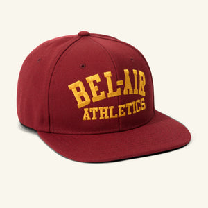 Gym Logo Snapback Hat, Brick / Gold