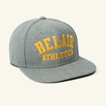 Gym Logo Snapback Hat Grey Gold Image  #1