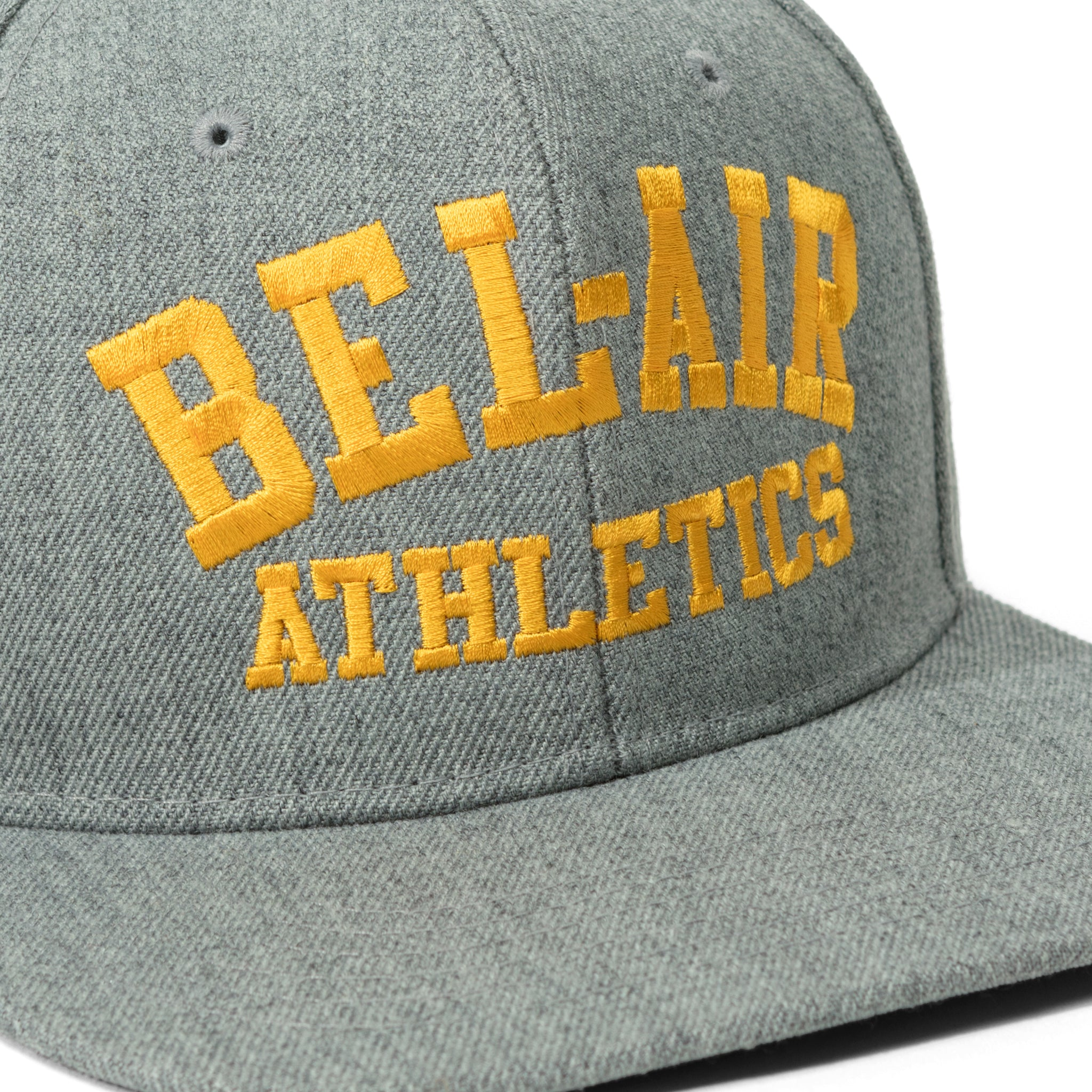 Gym Logo Snapback Hat Grey Gold Image  #2