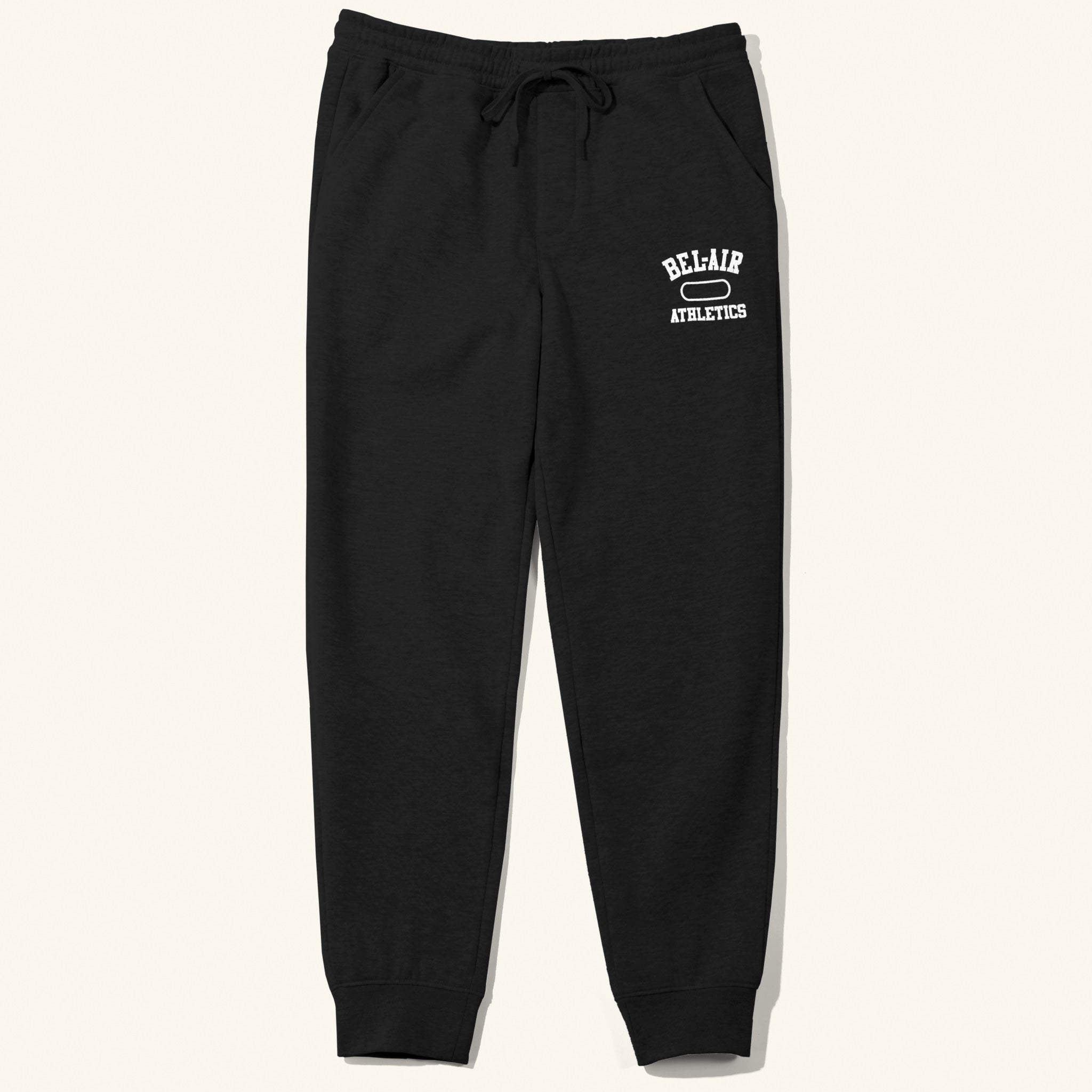 Gym Logo Sweatpants Black White Image  #1