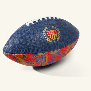 Hail Mary Football Navy Paisley Image  #1