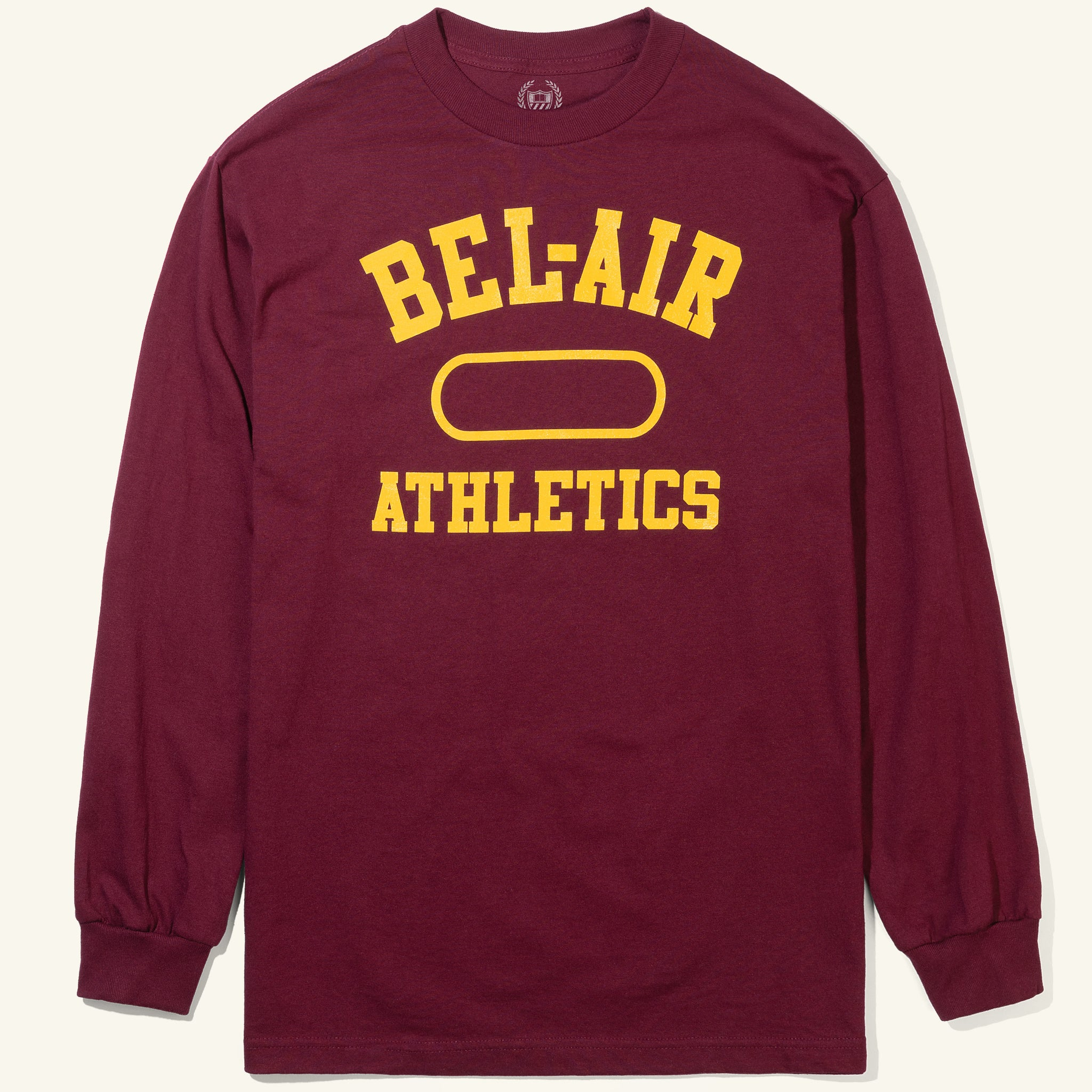 Bel Air Athletics Long Sleeve Tee Crimson Image  #1