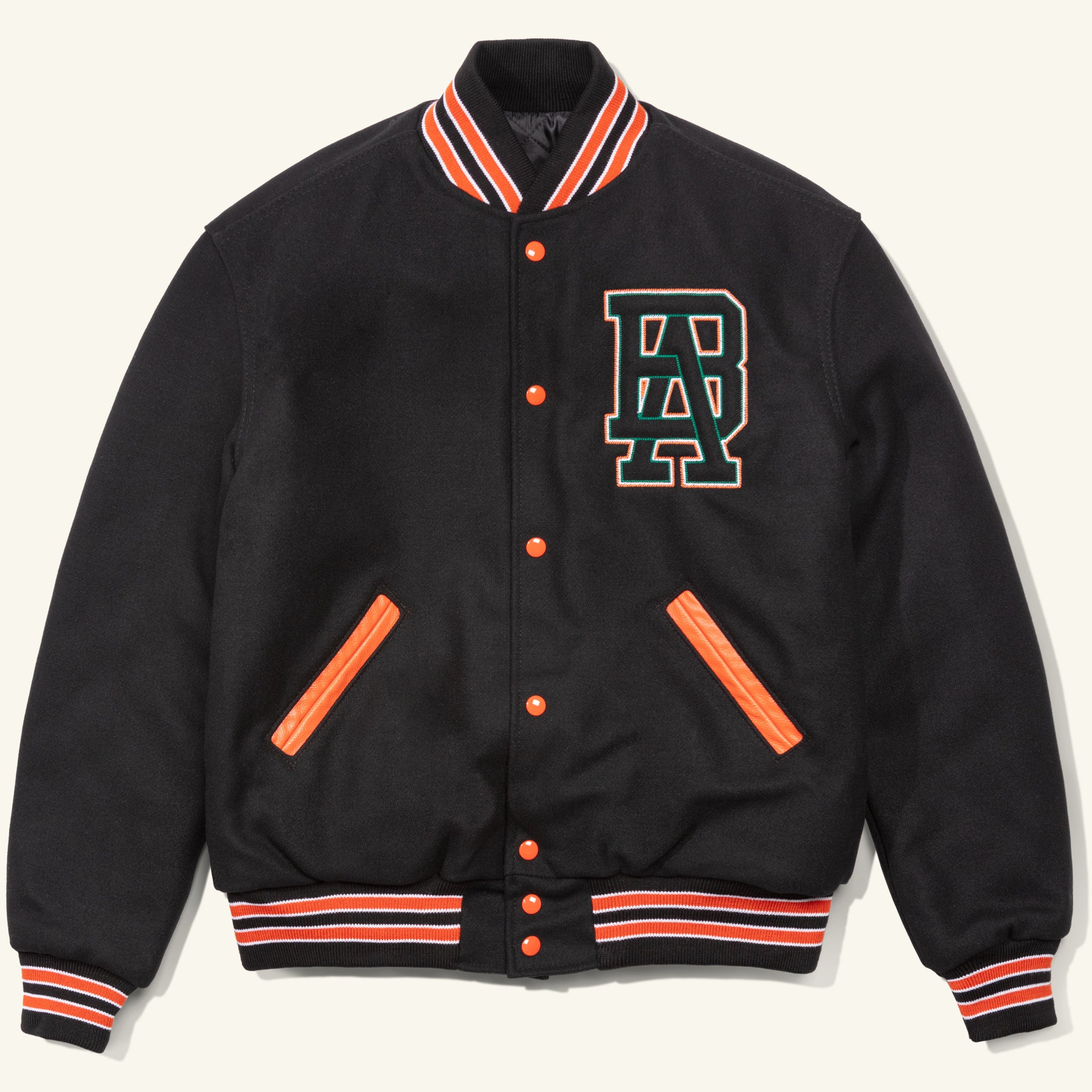 Monogram Letterman Jacket Black Image  #1
