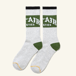 Old English Socks Grey Emerald Image  #1