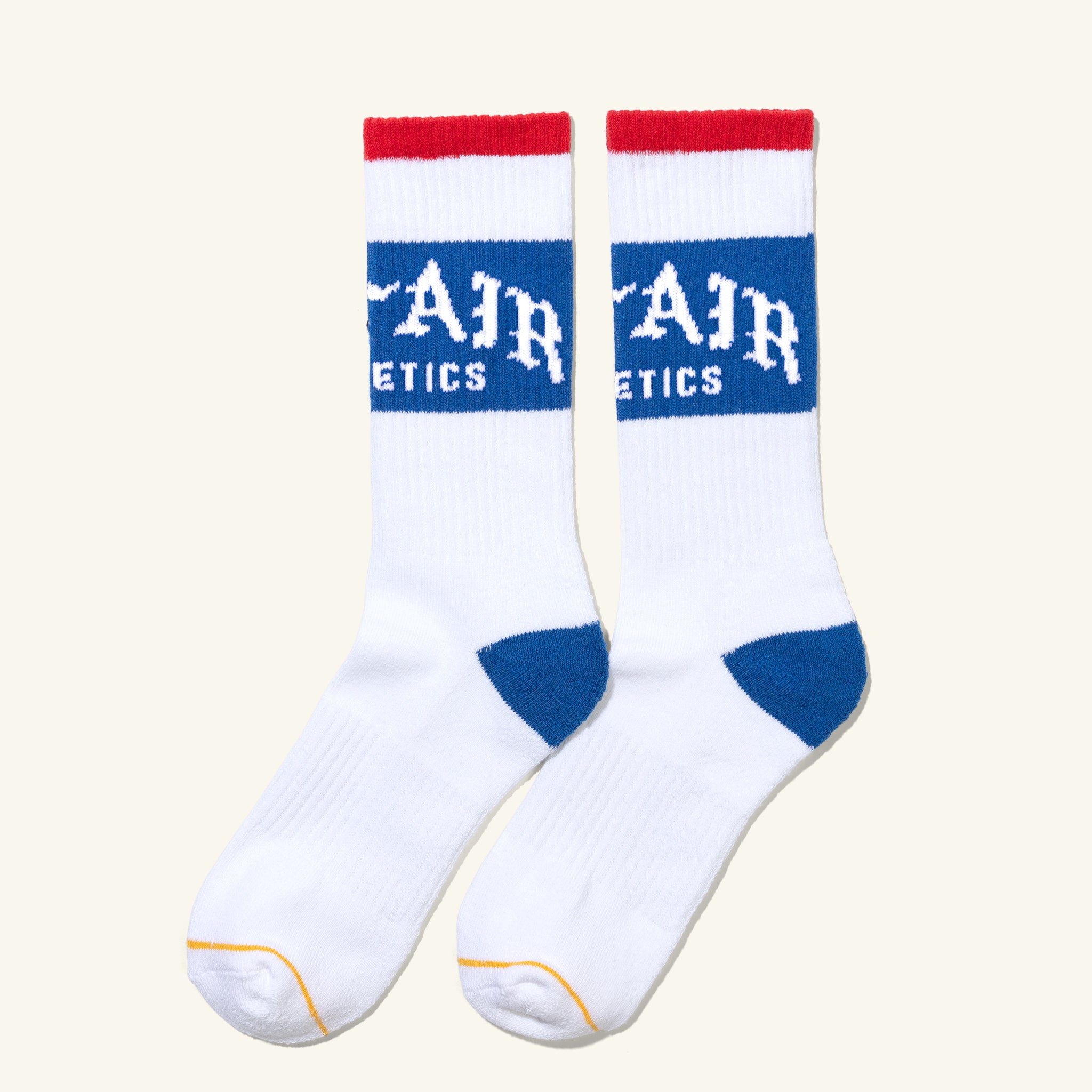 Old English Socks, White / Royal